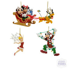 Disney Parks Mickey Mouse and Friends Holiday Ornament Set Christmas Ornaments