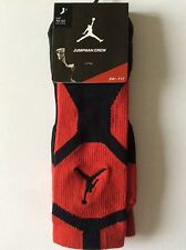 Hombre Nike Air Jordan Jumpman Crew Socks UK 11-14.5. 46-50 euros. Rojo/Negro