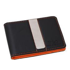 YCM13A05 Orange Black Romance For Presents  Leather Slim Money Clip Wallet Y&G