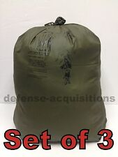 SET OF 3 Military ALICE Field Pack Waterproof Pack Liner Green Size 3 LARGE NEW