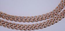 19 Cts Diamond on Pink Rose Gold Miami Cuban Link Chain 32 inch for Men ASAAR