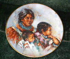 RED INDIAN COLLECTORS PLATE by ROYAL DOULTON  - 1981