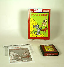 Vintage Boxed Atari 2600 game Mouse Trap Tested  & Working CIB