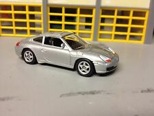 1/64 Porsche 911 Carrera in Silver with Black Int Riding on 5 Spoke Alloy Wheels