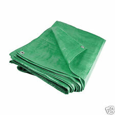 Waterproof Tarpaulin Ground Sheet Tent Camping Dust Cover Tarp 2.7m x 3.5m Green