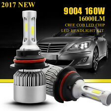 Pair 160W 16000LM 9004 HB1 CREE LED Headlight Kit Hi/Lo Beam Bulbs 6000K White