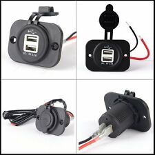 Automobile USB Outlet Socket Splitter Car Cigarette Lighter Charge Power Adapter