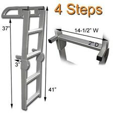 MARINE PONTOON BOAT FOLDING BOARDING ALUMINUM LADDER-4 STEP 41 INCH