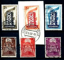 LUXEMBURG 1956 555-557, 572-574 gest TADELOS 130€(J1819