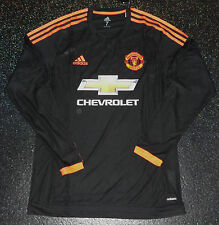 Manchester United Player Issue adizero Match Away Shirt LS - Size 7
