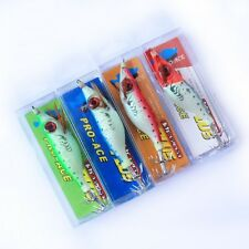 4x 3D Big Eye Shade SHIRMP SQUID/Cuttlefish  Carp Fishing JIG Lurebaits 3.9in FG