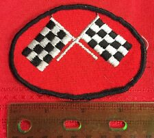 Used Checkered Flag Patch Auto Racing Racecar BIN:G