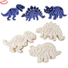 3pcs Dinosaur Shape Cookies Cutter Biscuit Pastry Fondant Cake Decorating Mould