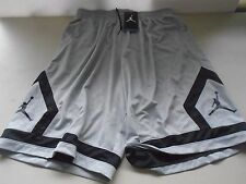 New Nike Air Jordan Flight Diamond Gray Black  shorts size XXL