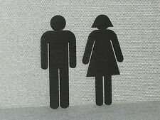 Restroom Signs Man & Ladies Figures Set