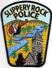 """Slippery Rock, PA  (4"""" x 5.25"""" size) shoulder police patch (fire)"""