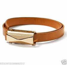 NWT Banana Republic Women Leather Wrap Slide Camel Bracelet Jewelry Gold Plate
