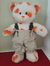 Build A Bear White Candy Corn Teddy Plush Stuffed Animal W/Clothes BABW Outfit