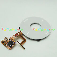 CLICK WHEEL + MENU FACEPLATE FLEX CABLE FOR iPOD VIDEO 5 5TH GEN #C-103_WHITE