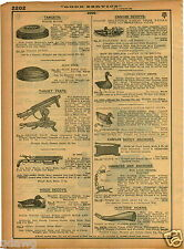 1921 PAPER AD Hollow Collapsible Canvas Duck Decoys Automatic Mason's Cedar Wood