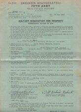 8796) WW2 FIFTH ARMY APO 464 USA, MONIGA, BRESCIA, REQUISIZIONE VILLA FERRARI.
