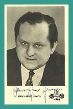 HANS-ARNO SIMON | Komponist | Original-Autogramm auf Starpostkarte