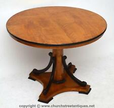 ANTIQUE BIEDERMEIER DINING OR CENTRE TABLE - SATINBIRCH & EBONY