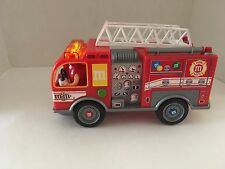 M&M's Fire Truck Candy Dispenser Lights Up and Siren Sound No Box 2011 M&M