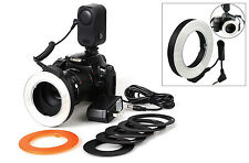 WANSEN W48 Photography LED video light Ring Flash Lighting For Canon Nikon DSLR