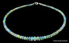 Ethiopian Opal  Gemstone Necklace Äthiopischer Opal  Edelsteinkette Opale 58.5ct