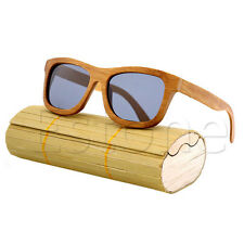 Men Women Bamboo Wooden Sunglasses Box Vintage Handmade Frame Glasses Case