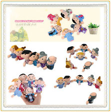 6Pcs Funny Family Finger Puppets Cloth Doll Baby Kid Educational Hand Toy Story