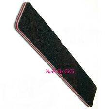 1 x PROFESSIONAL ACRYLIC OR GEL NATURAL NAIL FILE 100/180 Black Square