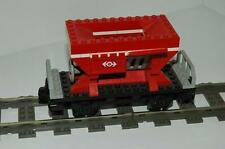 Lego 9V + RC Eisenbahn TRAIN 4564 Waggon Roter Kipper WAGON Q72