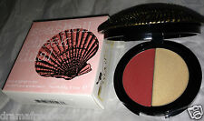 Duwop Isla Sirena Seashell Cheek Dual Blush Highlighter *RUBELITE* Peach Gold BN