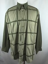 MENS Faconnable Jeans Albert Goldberg XL Oxford Checks Green Long Sleeve Shirt