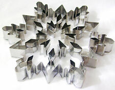 NEW LARGE STAINLESS STEEL SNOWFLAKE CUT OUT BISCUIT COOKIE CUTTER 19cm 5879