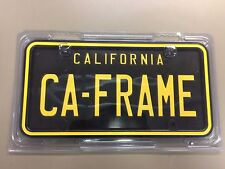 NEW Black and Yellow California License Plate Frame 10162
