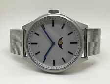 Bauhaus Moon Watch: SILVER Modern wares phase design, uniform steel bracelet