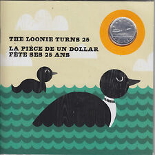 2012 '25th Anniversary of the Loon'  $1 Coin Silver Plated Special Edition