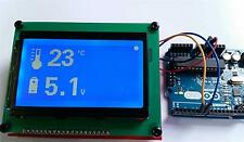 ST7920 Graphic LCD Display PCB, uses serial interface, suitable for Arduino