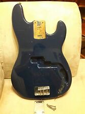 Fender Squier Affinity P-Bass Precision Bass guitar body (Blue) with neck plate