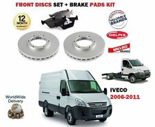 FOR IVECO DAILY 60C15 60C 65C15 65C 2006-2011 FRONT BRAKE DISCS SET + PADS KIT