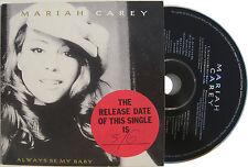 MARIAH CAREY CD Always Be My Baby 2 TRACK UK PROMO in Card slip-in sleeve