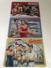 9 Budweiser Bier Blechschilder im XXL Set  - Budvar 20x30 cm Beer Sign signs