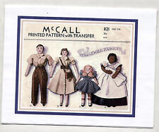 Xerox Vintage Pattern #821 DOLL FAMILY 1940s MAMMY/DAD/MOM/BABY/DAUGHTER Wigs+