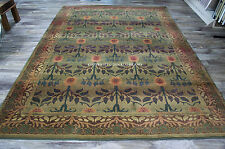 "8x11 (7'10"" x 11') William Morris Style Arts & Crafts Mission Area Rug"