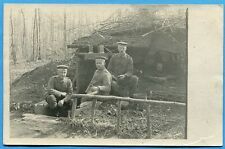 CPA PHOTO: 3 soldats allemands  / Guerre 14-18 / 1918