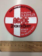 AC/DC Patch Aarhus 2016 ricamate raramente di alta qualità ricamati inutilizzato