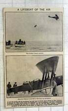 1921 New Life-saving Raft For Aeroplanes Being Released